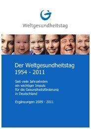 Der Weltgesundheitstag 1954 - 2011