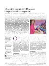 Obsessive-Compulsive Disorder: Diagnosis and Management