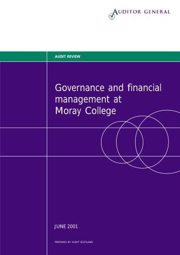 Governance and financial management at Moray ... - Audit Scotland
