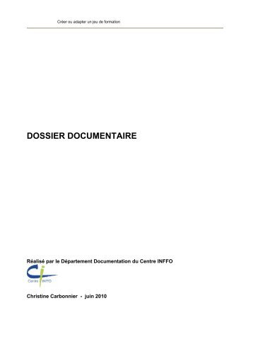 DOSSIER DOCUMENTAIRE - Centre Inffo
