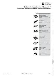 Betonschutzplatten und Zubehör / Concrete ... - Xorella-Frank AG
