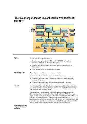 Práctica A: seguridad de una aplicación Web Microsoft ... - Willy .Net