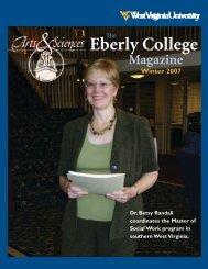 The Eberly College Magazine, Winter 2007