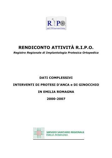 Report annuale 2007 Regione Emilia - RIPO - Cineca