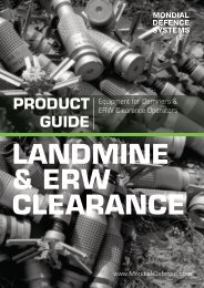mine clearance - Mondial Defence