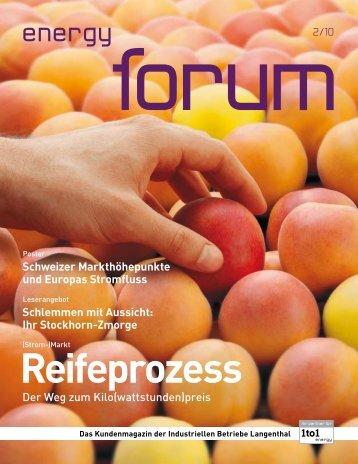 Download PDF energy forum - Industrielle Betriebe Langenthal