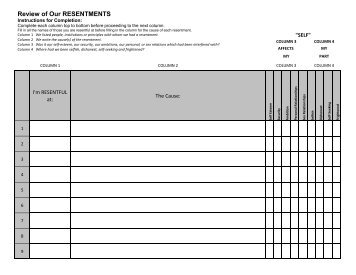 4th Step Guide Fourth Step Inventory Big Book Study Worksheets ...