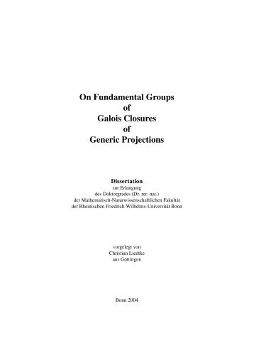 On Fundamental Groups of Galois Closures of Generic Projections
