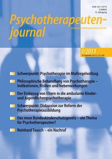 Psychotherapeutenjournal 3/2013 (.pdf)