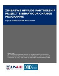 Zimbabwe HIV/AIDS Partnership Project & Behaviour Change