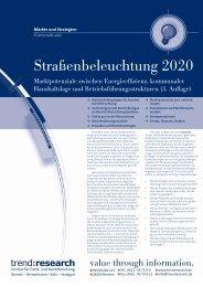 Straßenbeleuchtung 2020 - trend:research