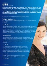 Trainee Auditors (m/f)