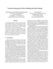 Towards an Integration of Process Modeling and Project Planning