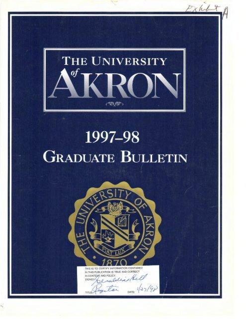 Graduate School - The University of Akron