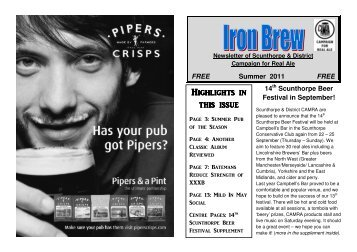 Iron Brew Summer 2011 - Scunthorpe & District CAMRA