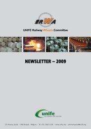 NEWSLETTER – 2009 UNIFE Railway Wheels Committee