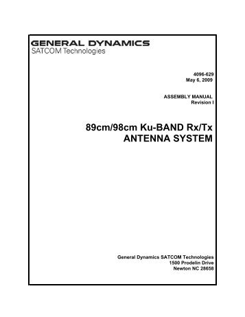 89cm/98cm Ku-BAND Rx/Tx ANTENNA SYSTEM - General Dynamics