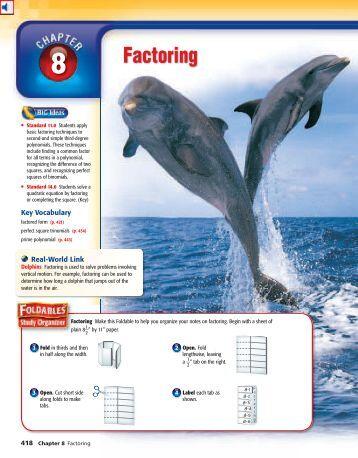 Glencoe algebra 1 practice workbook answer key chapter 8