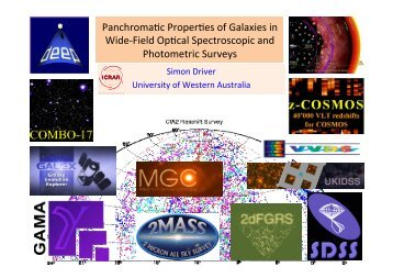 Panchroma+c Proper+es of Galaxies in Wide-‐Field Op+cal ...