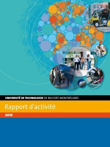 Rapport d'activité 2010 - Utbm