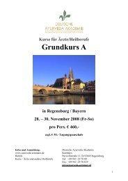 Grundkurs A - Deutsche Ayurveda Akademie