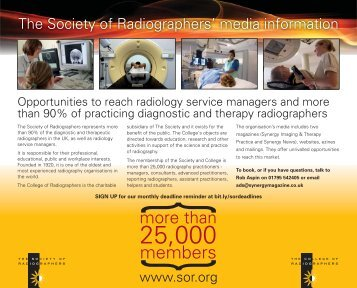 media pack - Society of Radiographers