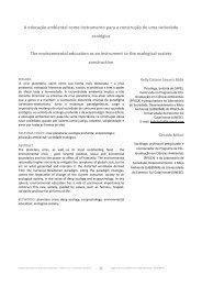 A educação ambiental como instrumento para a construção de uma ...