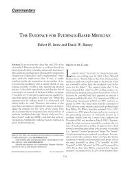 THE EVIDENCE FOR EVIDENCE-BASED MEDICINE Robert H ...