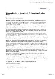 Morgan Stanley In Hiring Push To Jump-Start Trading ... - Maths-fi.com