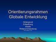 Reiner Mathar - Orientierungsrahmen Globale Entwicklung