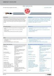 KAWEFLEX® 3130 SK PUR - TKD-KABEL | Продукция