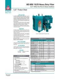 CJC HD HDU 15/25 Heavy Duty Filter - Cjc.dk