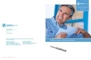 Driva Drills Brochure 5017b - Zimmer Dental
