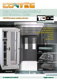Data & Telecommunications Solutions and Racks CONTEG product ...