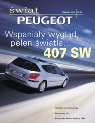 Wspaniały wygląd, pełen światła… świat - Peugeot