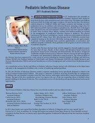 Pediatric Infectious Disease - UT Southwestern