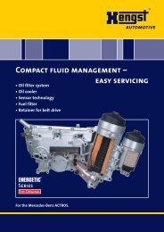 Compact fluid management - Hengst GmbH & Co. KG