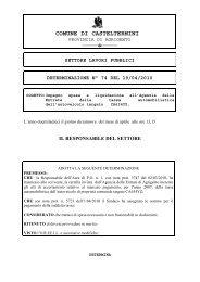 settore lavori pubblici determinazione n° 74 del 19/04/2010