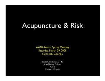 Acupuncture & Risk