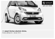 smart fortwo electric drive. - Autostern