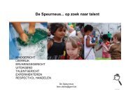 De Speurneus... op zoek naar talent - Technopolis