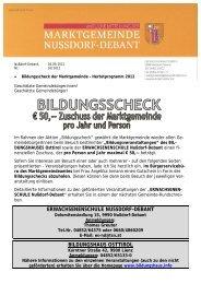 pfarre debant - Marktgemeinde Nudorf-Debant