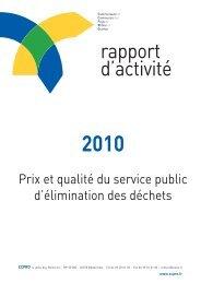 Environnement, Prix et qualité du service public d ... - CCPRO