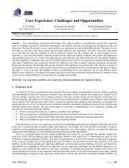 User Experience: Challenges and Opportunities - space seminar ...