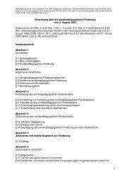 Verordnung über die sonderpädagogische Förderung vom 2 ...