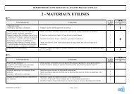 2 - MATERIAUX UTILISES