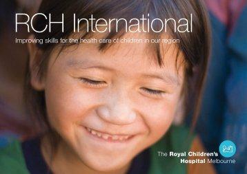 RCH International Brochure - Learning Cities International