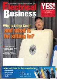 and what is he sitting in? - Electrical Business Magazine