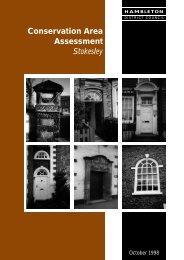 Conservation Area Assessment Stokesley - Hambleton District Council