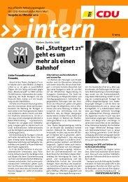 Ausgabe Oktober 2010 - CDU-Gemeindeverband Schwaikheim